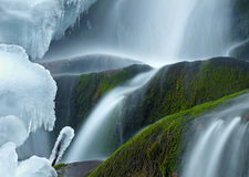 Icy waterfall Royalty Free Stock Photo