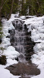 Icy Waterfall in Forest Royalty Free Stock Photography
