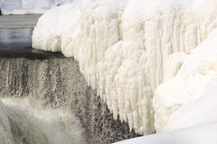 Icy waterfall Royalty Free Stock Photography