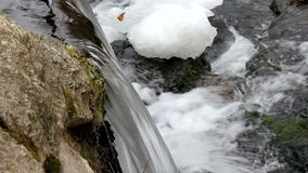 Icy Waterfall stock video footage