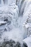 Icy waterfalls 1. Icy waterfalls of Lumbrick, Alberta on the Crowsnest River Stock Photos