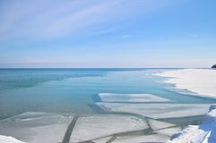 Icy waters Royalty Free Stock Image