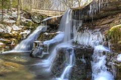 Icy West Kill Falls Royalty Free Stock Photos