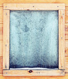 Icy window Royalty Free Stock Photography