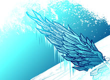 Icy wing Stock Images