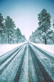 Icy Winter Road Royalty Free Stock Photo
