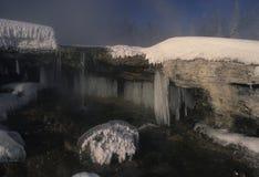 Icy Winter Scene Stock Photo