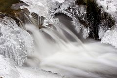Icy Winter Stream Royalty Free Stock Images