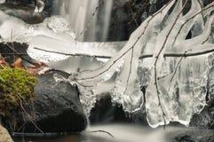 Icy Winter Stream Stock Photo
