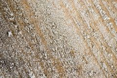 Icy on a wooden board as a background Royalty Free Stock Photo