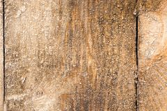 Icy on a wooden board as a background Royalty Free Stock Image