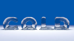 Icy word cold on the snow Royalty Free Stock Photos