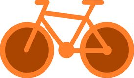 Icône orange de bicyclette illustration de vecteur