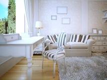 Idé av den provence vardagsrummet vektor illustrationer