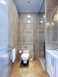 Idé av det provence badrummet royaltyfri bild