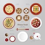Idé för lägenhet för Infographic Kina foodsaffär lekmanna- Vektorillustrat vektor illustrationer