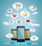 Idé för mobilservicedesign Royaltyfria Foton