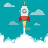 Idé för raketaffärsman Royaltyfri Fotografi