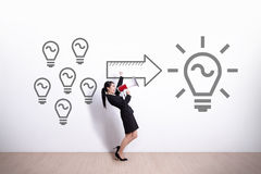 Idé och innovationbegrepp Royaltyfria Bilder