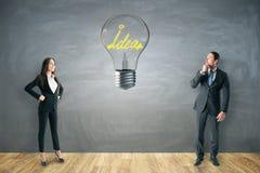 Idé- och teamworkbegrepp royaltyfria foton