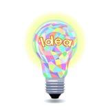 Idé som en lightbulb Arkivbild