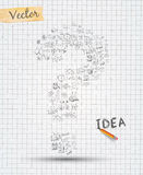 Idébegreppsorientering för idékläckning- och Infographic bakgrund Arkivbilder