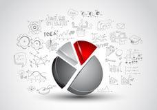 Idébegreppsorientering för idékläckning- och Infographic bakgrund Fotografering för Bildbyråer