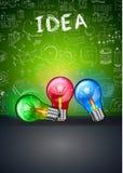 Idébegreppsorientering för idékläckning- och Infographic bakgrund Stock Illustrationer