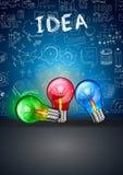 Idébegreppsorientering för idékläckning- och Infographic bakgrund Royaltyfri Bild