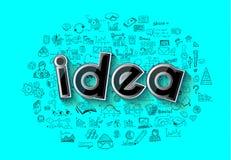 Idébegreppsorientering för idékläckning- och Infographic bakgrund Royaltyfri Illustrationer