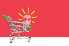 idébilden för begreppet 3d framförde Nya idéer i handel Begreppet av att sälja och att köpa Affärsidéer Royaltyfri Fotografi
