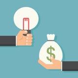 Idée à l'argent Photographie stock