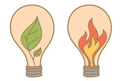 Idée abstraite de lame et d'incendie Images libres de droits