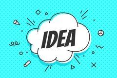 Idée, bulle de la parole Bannière, bulle de la parole, affiche et autocollant illustration de vecteur