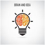 Idée créative de cerveau Photos stock