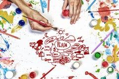 Idée créative pour vos affaires Images stock
