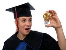 Idée d'étudiant et d'or Photos libres de droits