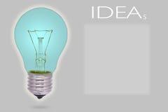 Idée d'ampoule Photo stock