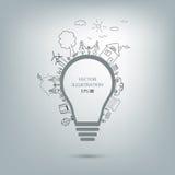 Idée d'ampoule illustration stock
