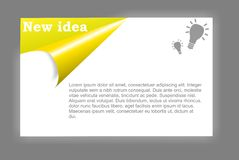 Idée de carte Images stock