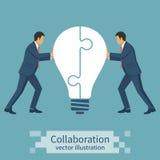 Idée de concept de collaboration illustration stock