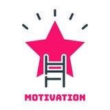 Idée de conception de développement de stratégie commerciale d'icône d'étoile d'échelle de carrière de concept de motivation et d Photographie stock