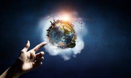 Idée de création de la terre photos libres de droits