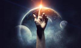 Idée de création de la terre Media mélangé image libre de droits
