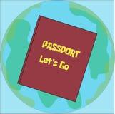 Idée de déplacement d'illustration de passeport Photographie stock libre de droits