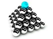 Idée de hiérarchie et de management, transmission illustration de vecteur