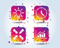 Idée de lampe et temps d'horloge Illustration du diagramme diagram illustration libre de droits