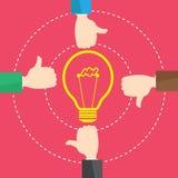 Idée de lumière de Like Concept Bulb d'homme d'affaires Images libres de droits