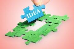 Idée de mot de puzzle image libre de droits