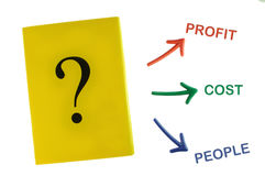 Idée de résolution des problèmes de concept et de défi d'affaires Images stock